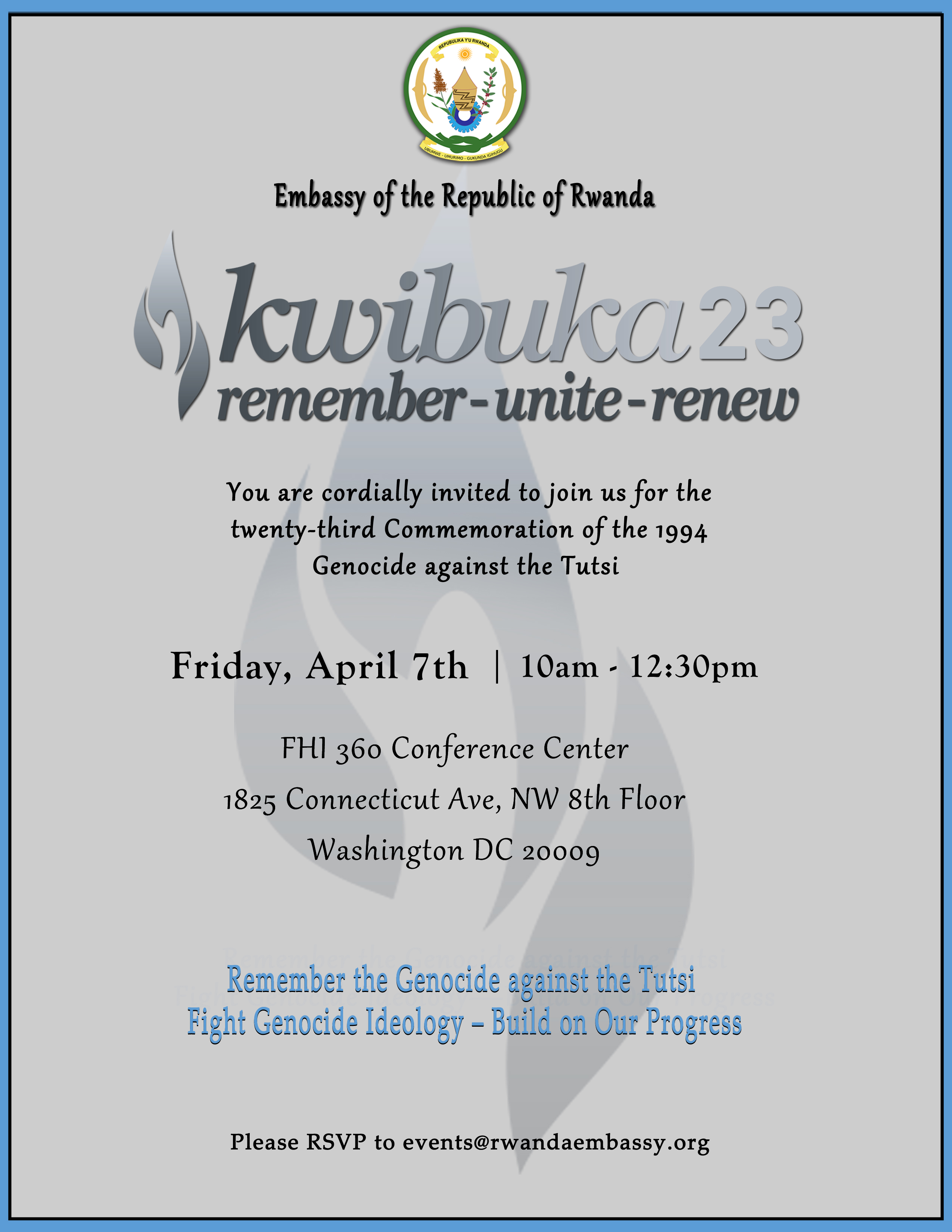 Invitation to the 23rd commemoration of the genocide against the washington dc 20009 stopboris Gallery